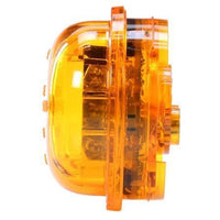 Truck-Lite 30075Y 30 Series, LED, Yellow Round, 8 Diode, High Profile, M/C Light, PC, Black Grommet, 12V, Kit