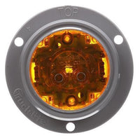 Truck-Lite 30080Y 30 Series, LED, Yellow Round, 8 Diode, High Profile, M/C Light, PC, Gray Flange, 12V, Kit