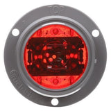 Truck-Lite 30091R 30 Series, LED, Red Round, 6 Diode, Low Profile, M/C Light, PC, Gray Flush Mount, 12V, Kit