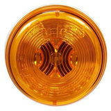 Truck-Lite 30204Y 30 Series, Incan., Yellow Round, 1 Bulb, M/C Light, P2, 12V