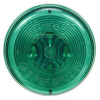 Truck-Lite 30206G 30 Series, Incan., Green Round, 1 Bulb, M/C Light, PC, 24V