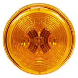 Truck-Lite 30206Y 30 Series, Incan., Yellow Round, 1 Bulb, M/C Light, PC, 24V