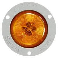 Truck-Lite 30221Y 30 Series, Incan., Yellow Round, 1 Bulb, M/C Light, PC2, Gray Flush Flange, 12V