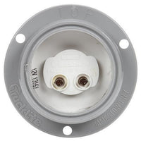 Truck-Lite 30223Y 30 Series, Incan., Yellow Round, 1 Bulb, M/C Light, PC, Flange, 12V