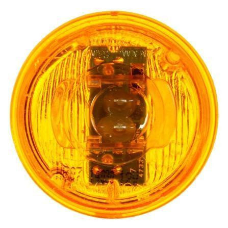 Truck-Lite 30250Y 30 Series, LED, Yellow Round, 2 Diode, M/C Light, P3, 12V