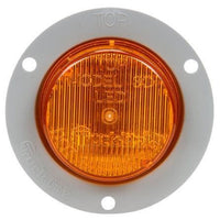 Truck-Lite 30251Y 30 Series, LED, Yellow Round, 2 Diode, M/C Light, P3, Gray Flange, 12V