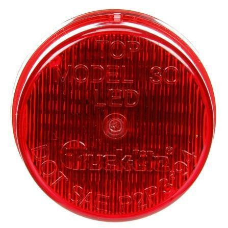 Truck-Lite 30255R Military 30 Series, LED, Red Round, 3 Diode, M/C Light, P3, 12-24V