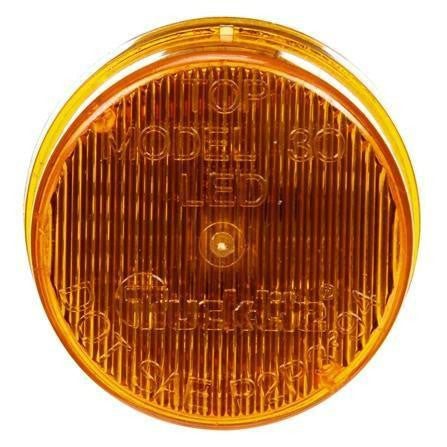 Truck-Lite 30255Y Military 30 Series, LED, Yellow Round, 3 Diode, M/C Light, PC2, 12-24V