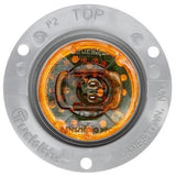 Truck-Lite 30262Y 30 Series, LED, Yellow Round, 1 Diode, European Approved, M/C Light, ECE, Gray Flange, 12-24V