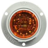 Truck-Lite 30265Y 30 Series, LED, Yellow Round, 1 Diode, European Flush, M/C Light, ECE, Gray Flange, 12-24V