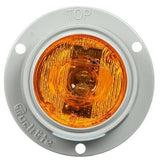 Truck-Lite 30272Y 30 Series, LED, Yellow Round, 2 Diode, Low Profile, M/C Light, P3, Gray Flush Mount, 12V