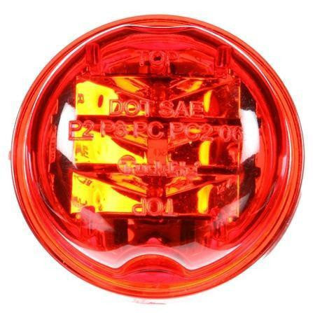 Truck-Lite 30275R 30 Series, LED, Red Round, 8 Diode, High Profile, M/C Light, PC, 12V