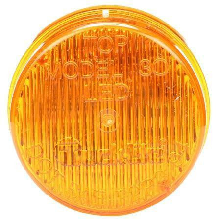 Truck-Lite 30286Y 30 Series Self-Flashing LED Strobe 3 Diode Round Yellow 12V