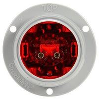 Truck-Lite 30289R 30 Series, LED, Red Round, 6 Diode, Low Profile, M/C Light, PC, Gray Flange, 12V