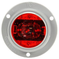 Truck-Lite 30386R 30 Series, LED, Red Round, 6 Diode, Low Profile, M/C Light, PC, Gray Flange, 12V