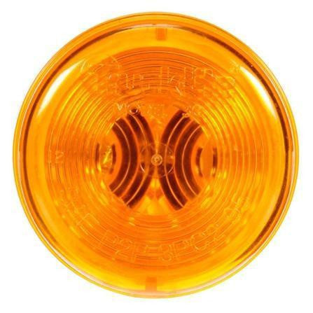 Truck-Lite 30503Y 30 Series, Incan., Yellow Round, 1 Bulb, M/C Light, PC, Black Grommet, 12V, Kit, Marker Clearance Light, Truck-Lite