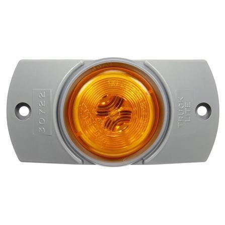 Truck-Lite 30504Y 30 Series, Incan., Yellow Round, 1 Bulb, M/C Light, PC, Gray Bracket, 12V, Kit, Marker Clearance Light, Truck-Lite