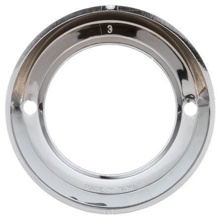 Truck-Lite 30712 Open Back Chrome Grommet Cover For 30 Series Visor Cover And 2 in Round Lights