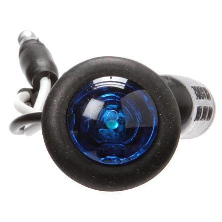 Truck-Lite 33065B 33 Series, LED, 1 Diode, Blue, Round, Aux. Light, Black Grommet, 12V, Kit