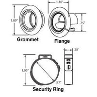 Truck-Lite 33720 Open Back Black Sealing Grommet For 33 Series 070-125 in Diameter And 0.75 in Round Lights