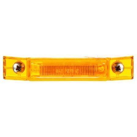 Truck-Lite 35001Y 35 Series, LED, Yellow Rectangular, 2 Diode, M/C Light, P2, 2 Screw, 12V, Kit, Marker Clearance Light, Truck-Lite
