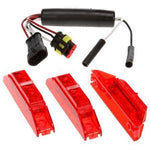 Truck-Lite 35035R 35 Series, LED, Dual-Function, Red, Rectangular, ID Light Assembly, Red, 12V, Kit