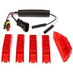 Truck-Lite 35036R 35 Series, LED, Dual-Function, Red, Rectangular, ID Light Assembly, Red, 12V, Kit