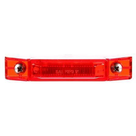 Truck-Lite 35080R 35 Series, Diamond Shell, LED, Red Rectangular, 1 Diode, M/C Light, P2, 2 Screw, 12V, Kit, Marker Clearance Light, Truck-Lite