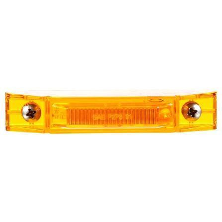 Truck-Lite 35200Y 35 Series, LED, Yellow Rectangular, 2 Diode, M/C Light, P2, 2 Screw, 12V, Marker Clearance Light, Truck-Lite
