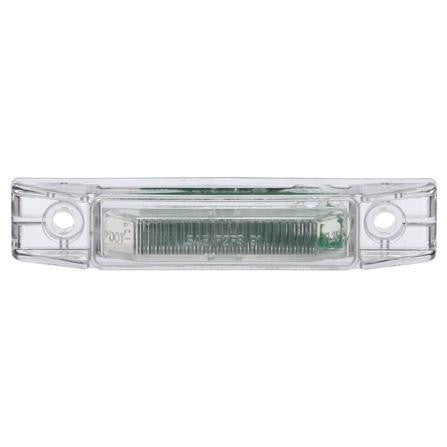 Truck-Lite 35201R 35 Series, LED, Clear/Red Rectangular, 2 Diode, M/C Light, P2, 2 Screw, 12V, Marker Clearance Light, Truck-Lite