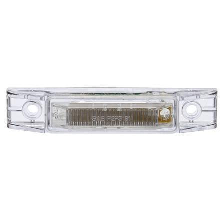 Truck-Lite 35201Y 35 Series, LED, Clear/Yellow Rectangular, 2 Diode, M/C Light, P2, 2 Screw, 12V, Marker Clearance Light, Truck-Lite