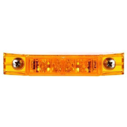 Truck-Lite 35375Y 35 Series, LED, Yellow Rectangular, 5 Diode, M/C Light, PC, 2 Screw, 12V, Marker Clearance Light, Truck-Lite