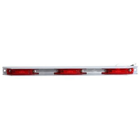 "Truck-Lite 35740R 35 Series, 6"" Centers, LED, Red, Rectangular, ID Bar, Silver, 12V, Kit"