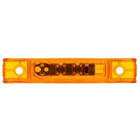Truck-Lite 35880Y 35 Series, Diamond Shell, LED, Yellow Rectangular, 1 Diode, M/C Light, P2, 2 Screw, 12V, Marker Clearance Light, Truck-Lite