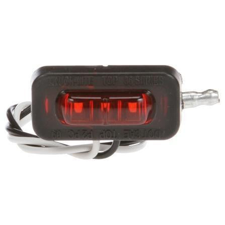 Truck-Lite 36105R 36 Series, LED, Red Rectangular, 3 Diode, Flex-Lite Side Exit M/C, PC, Adhesive 12V