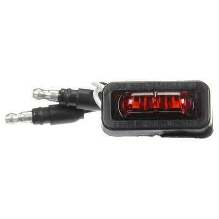 Truck-Lite 36115R 36 Series, LED, Red Rectangular, 3 Diode, Flex-Lite Rear Exit Wire, M/C Light, PC, Adhesive, 12V