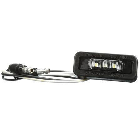 Truck-Lite 36204C 36 Series, LED, 3 Diode, Rear Exit Wires, Clear Rectangular, Aux. Light, Black, Adhesive Mount, 12-24V, Auxiliary Light, Truck-Lite