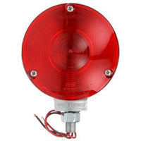 Truck-Lite 3702 Single Face, Incan., Red Round, 1 Bulb, Gray, 2 Wire, Pedestal Light