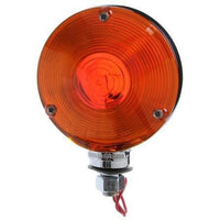 Truck-Lite 3802 Red/Yellow Dual Face Incan,  Round 1 Bulb, Chrome, 1 Wire, Pedestal Light