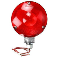 Truck-Lite 3805Y115 Red Dual Face Incan. Round 1 Bulb, Gray 2 Wire, Pedestal Light