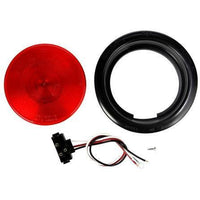 Truck-Lite 40009R 40 Series, Incan., Red, Round, 1 Bulb, S/T/T, 24V, Kit