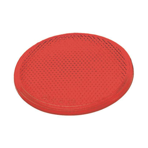 "Grote 40052 Round Stick-On Reflector- 3"", Red"