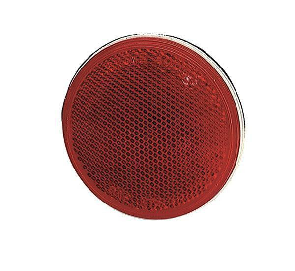 "Grote 40062 Sealed 3"" Round Stick-On Reflectors-Red"