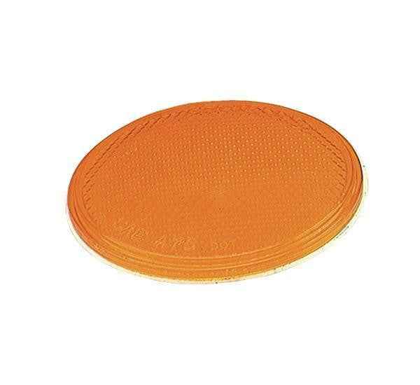 "Grote 40063 Sealed 3"" Round Stick-On Reflectors-Yellow"