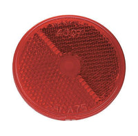 "Grote 40072 Red 2 1/2"" Round Stick-On Reflectors"