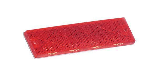 Grote 40132 Mini Stick-On Rectangular Reflectors-Red
