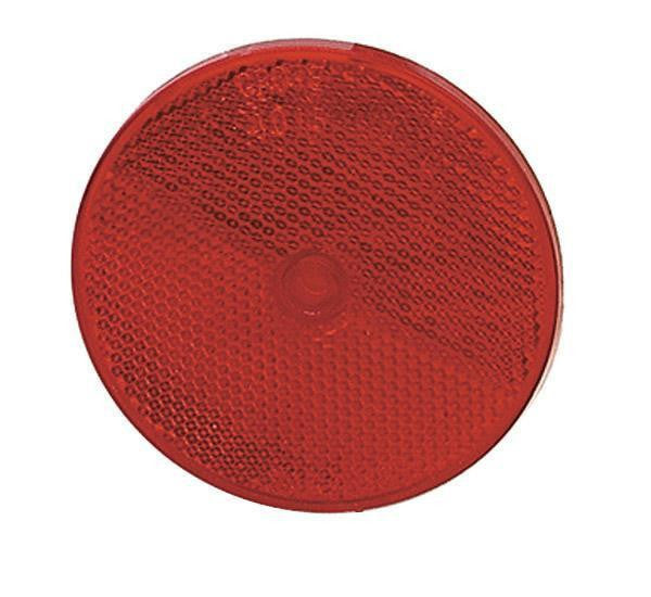 "Grote 40152 Sealed Center-Mount Reflector- 3 1/2"" Red"