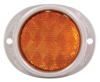 Grote 40193 Steel Two-Hole Mounting Reflector- Yellow, Silver Housing w/ Gasket