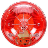Truck-Lite 40206R 40 Series, Clear Back, Incan., Red, Round, 1 Bulb, S/T/T, PL-3, 12V