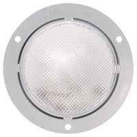 Truck-Lite 40223 40 Series, Incan., 1 Bulb, Clear, Round, Dome Light, Gray Flange, 12V